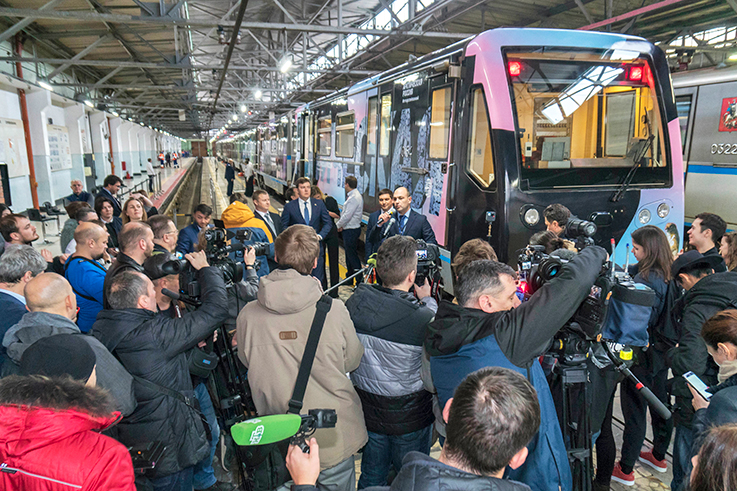 Создание мультимедийной выставки в метропоезде
