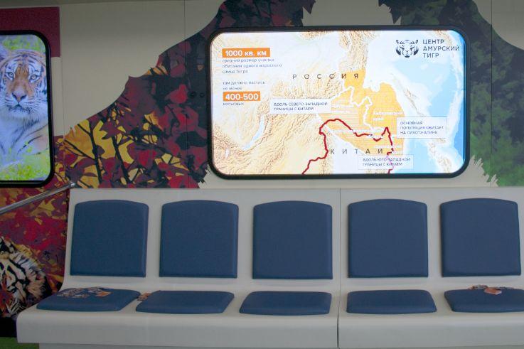 Создание интерактивной инсталляции в поезде